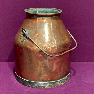 Early 20th Century Heavy Copper Milk Churn