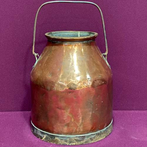Early 20th Century Heavy Copper Milk Churn image-2