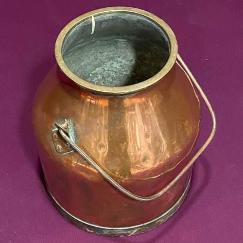 Early 20th Century Heavy Copper Milk Churn image-3