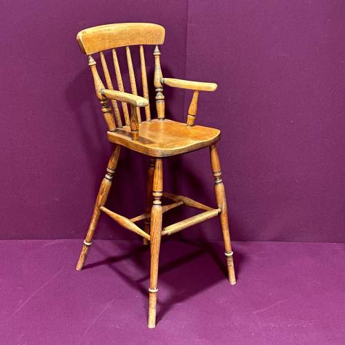 Early 20th Century Childs High Chair image-1