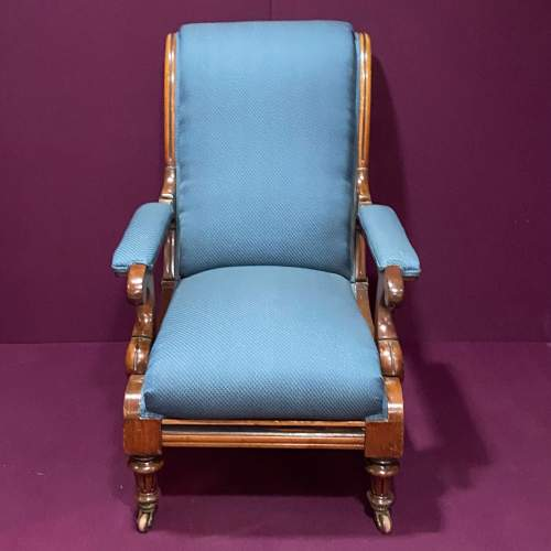 19th Century Adjustable Library Chair With Pull Out Footrest image-2
