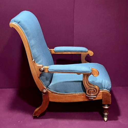 19th Century Adjustable Library Chair With Pull Out Footrest image-3