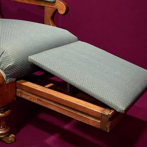 19th Century Adjustable Library Chair With Pull Out Footrest image-5