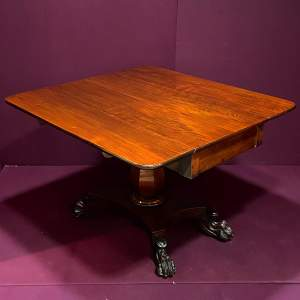 19th Century Mahogany Drop Leaf Breakfast Table