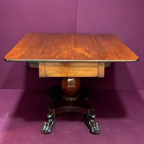19th Century Mahogany Drop Leaf Breakfast Table image-5