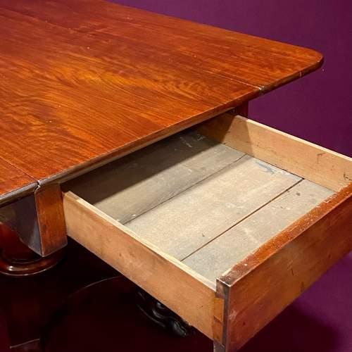 19th Century Mahogany Drop Leaf Breakfast Table image-4