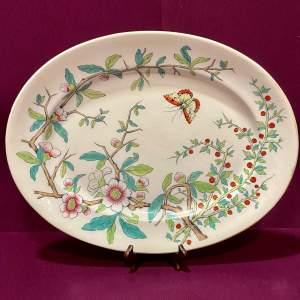 Masons Cashmere Pattern Large Meat Plate