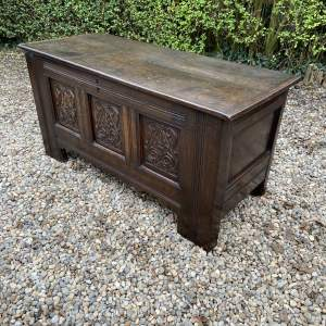 Early 18th Century Peg Jointed Oak Coffer