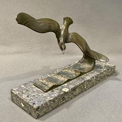 G Garreau Art Deco Bronze Sea Bird image-1
