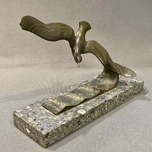 G Garreau Art Deco Bronze Sea Bird