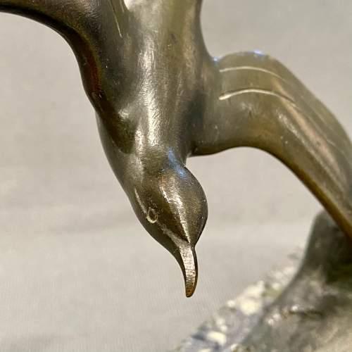G Garreau Art Deco Bronze Sea Bird image-3