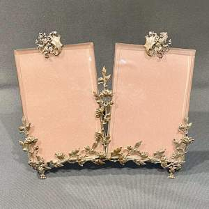 Vintage French Double Photograph Frame