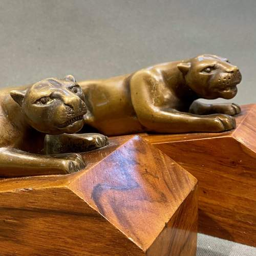 Pair of Art Deco Bronze Panther Bookends image-2
