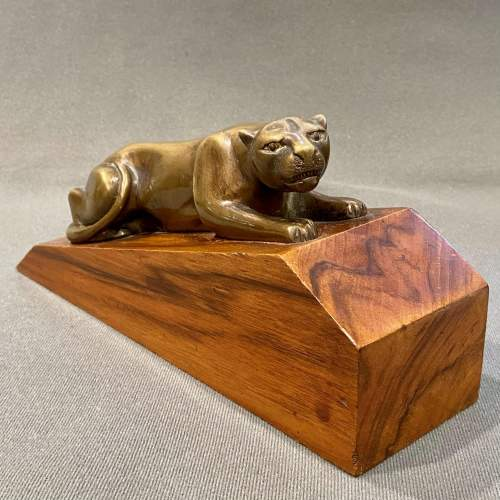 Pair of Art Deco Bronze Panther Bookends image-4