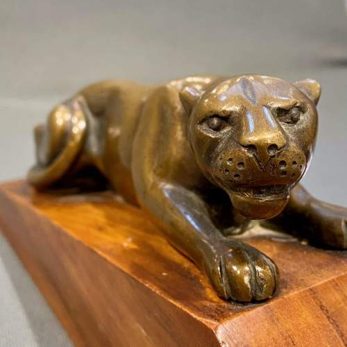 Pair of Art Deco Bronze Panther Bookends image-5