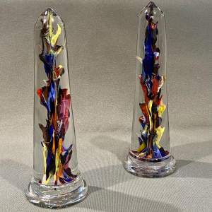 Pair of Victorian Glass Paperweights