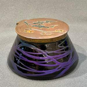 Loetz Glass Trinket Pot