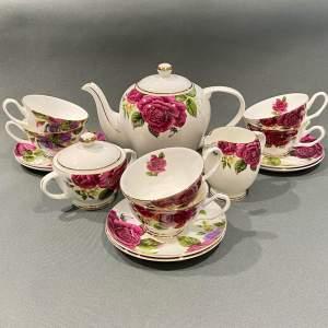 20th Century 15 Piece Jinyuanciye Flowers Tea Set