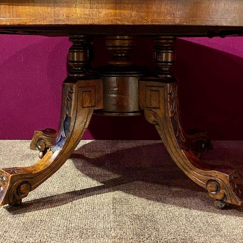 Victorian Inlaid Burr Walnut Coffee Table image-6