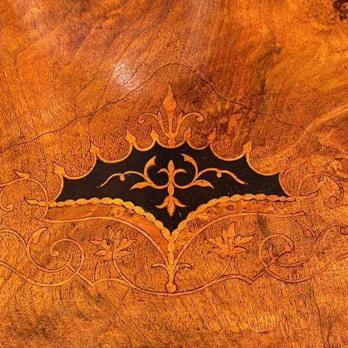 Victorian Inlaid Burr Walnut Coffee Table image-5