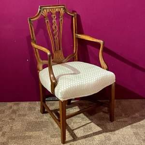 Early 20th Century Walnut Framed Elbow Chair