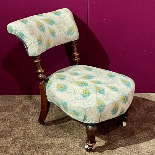Victorian Mahogany Framed Bedroom Chair image-1