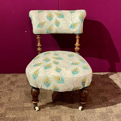 Victorian Mahogany Framed Bedroom Chair image-2