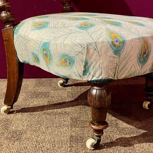 Victorian Mahogany Framed Bedroom Chair image-3
