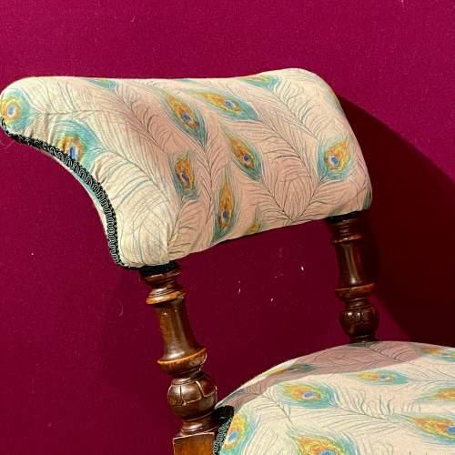 Victorian Mahogany Framed Bedroom Chair image-4