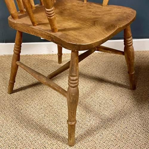 Vintage Elm Windsor Chair image-4