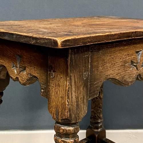 Carved Oak Joint Stool image-4