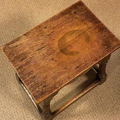 Carved Oak Joint Stool image-6