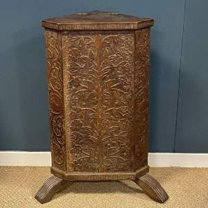 19th Century Carved  Oak Corner Stand