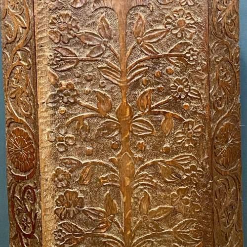 19th Century Carved  Oak Corner Stand image-2