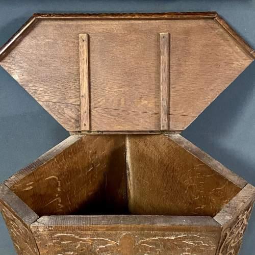 19th Century Carved  Oak Corner Stand image-5