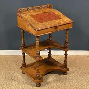 Walnut Veneered Davenport Desk