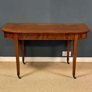 George III Mahogany End Table