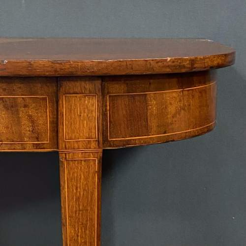 George III Mahogany End Table image-2