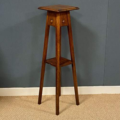 Arts and Crafts Oak Plant Stand image-1