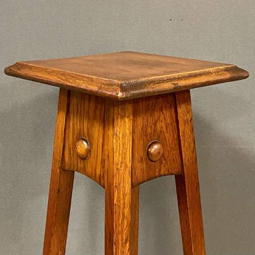 Arts and Crafts Oak Plant Stand image-2