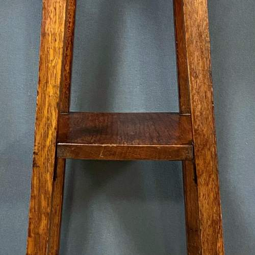 Arts and Crafts Oak Plant Stand image-4