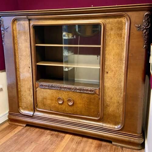 Large Walnut and Mahogany Bookcase image-1