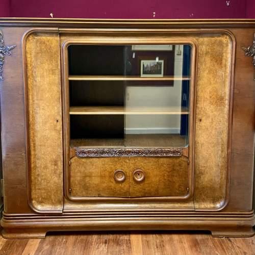 Large Walnut and Mahogany Bookcase image-2