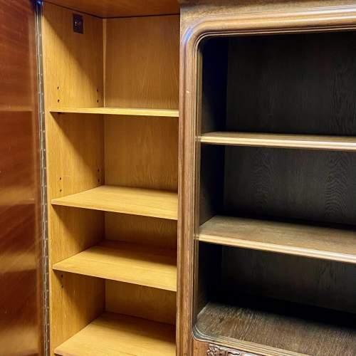 Large Walnut and Mahogany Bookcase image-3