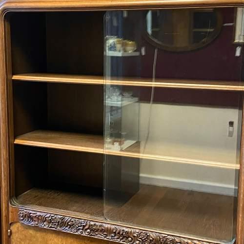 Large Walnut and Mahogany Bookcase image-4
