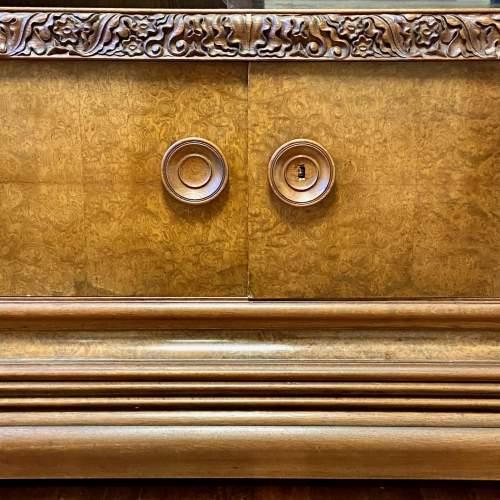 Large Walnut and Mahogany Bookcase image-5