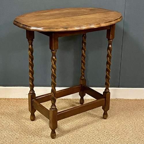 Early 20th Century Oak Side Table image-1