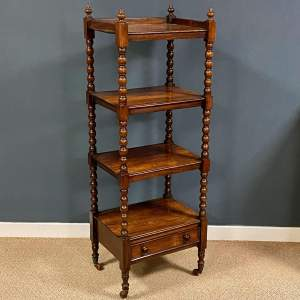 Early 20th Century Rosewood Four Tier Whatnot