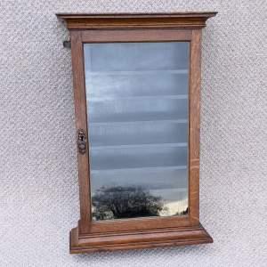 Edwardian Oak Shop Display Cabinet