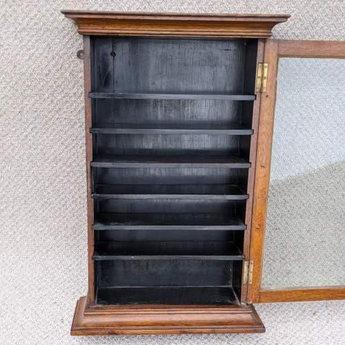 Edwardian Oak Shop Display Cabinet image-2